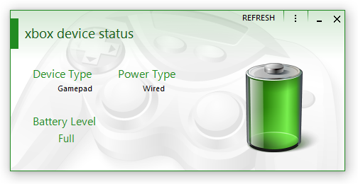 XBox Device Status: Battery Full